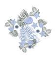 sea shell elements composition flat seashell vector image