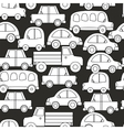 Seamless background of cars vector image vector image