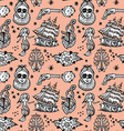 seamless pattern tattoo vector image vector image