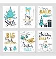 set creative sale holiday website banner vector image