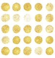 set golden grunge stamp round shapes vector image vector image