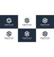 set initial letter s hexagon logo design vector image vector image