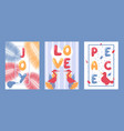 set typographic banners vector image vector image