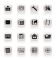 simple mobile phone and computer icon vector image vector image