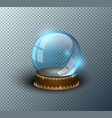 snow globe empty template isolated vector image vector image