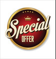 special offer badge vector image vector image
