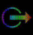 spectrum dotted logout icon vector image vector image