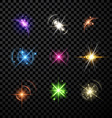 Stars and planet set background vector image vector image