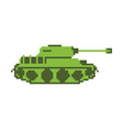 tank pixel art military machine is pixelatedl vector image