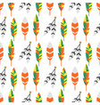tribal flat feather bird vintage colorful ethnic vector image vector image