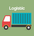 truck logistic service icon vector image vector image