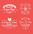 Valentines day set of label badges stamp and vector image vector image