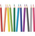 vector set of colored pencils vector image vector image