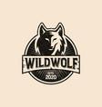 vintage wild wolf logo vector image vector image