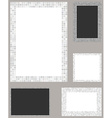 White pixel mosaic page layout border template set vector image vector image