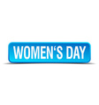 womens day blue 3d realistic square isolated vector image