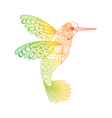Zentangle stylized Hummingbird Hand Drawn isolated vector image vector image