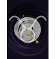zodiac taurus sign a4 print poster with vector image vector image