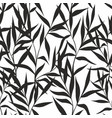 seamless pattern with leaves on a white background vector image