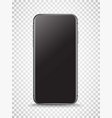3d of black smartphone with empty screen layered vector image vector image