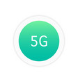 5g icon sign vector image