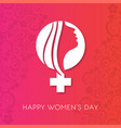 8 march logo design with international womens day vector image vector image