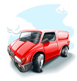 a cartoon red car high resolution image vector image vector image