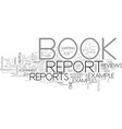 a helpful book report example text word cloud vector image vector image