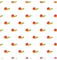 Apple and carrot pattern cartoon style vector image