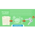 Approved mortgage loan application vector image vector image