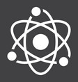 atom solid icon education and physics vector image vector image