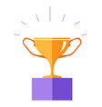 award for winner prize cup made gold vector image vector image