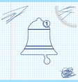 bell line sketch icon isolated on white background vector image vector image