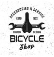 bicycle service emblem badge label logo vector image vector image