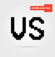 black editable vs pixel icon vector image