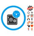 break safe icon with lovely bonus vector image vector image