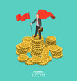 business success flat isometric concept vector image vector image