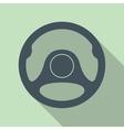 Car Steering Wheel Icon Flat Symbol vector image vector image