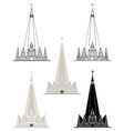 cathedral maring colored and outline vector image vector image