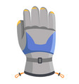 climbing glove icon flat style vector image vector image