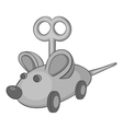 Clockwork mouse icon gray monochrome style vector image vector image