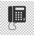 Communication or phone sign Dark gray icon on vector image vector image