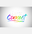 connect creative word text with handwritten vector image vector image