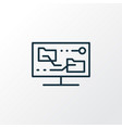 content synching icon line symbol premium quality vector image vector image