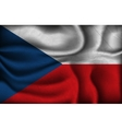crumpled flag of Czech Republic on a light vector image vector image
