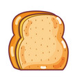delicious and fresh chopped bread vector image vector image