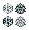 design tattoo in geometric tessellation style vector image vector image