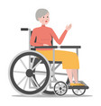 disabled woman in wheelchair isolated vector image vector image