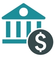 Dollar Bank Flat Icon vector image vector image