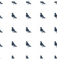 dove icon pattern seamless white background vector image vector image